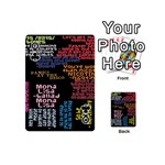 Panic At The Disco Northern Downpour Lyrics Metrolyrics Playing Cards 54 (Mini)  Front - ClubQ