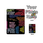 Panic At The Disco Northern Downpour Lyrics Metrolyrics Playing Cards 54 (Mini)  Back