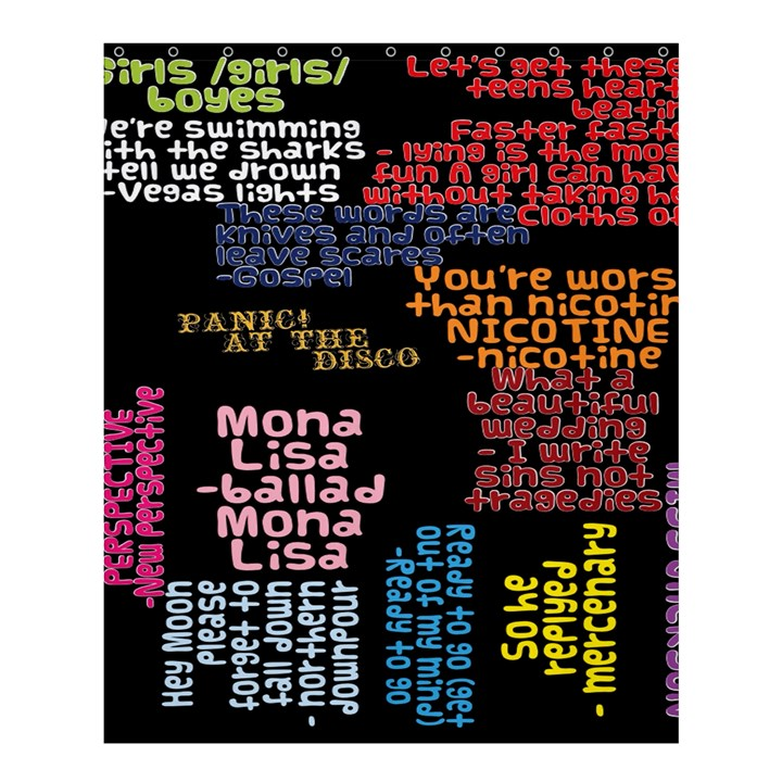 Panic At The Disco Northern Downpour Lyrics Metrolyrics Shower Curtain 60  x 72  (Medium)