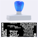 Panic At The Disco Northern Downpour Lyrics Metrolyrics Rubber Address Stamps (XL) 3.13 x1.38  Stamp