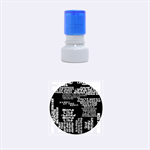 Panic At The Disco Northern Downpour Lyrics Metrolyrics Rubber Round Stamps (Small) 1.12 x1.12  Stamp