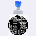 Panic At The Disco Northern Downpour Lyrics Metrolyrics Rubber Round Stamps (Large) 1.875 x1.875  Stamp
