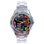 Panic At The Disco Northern Downpour Lyrics Metrolyrics Stainless Steel Analogue Watch Front