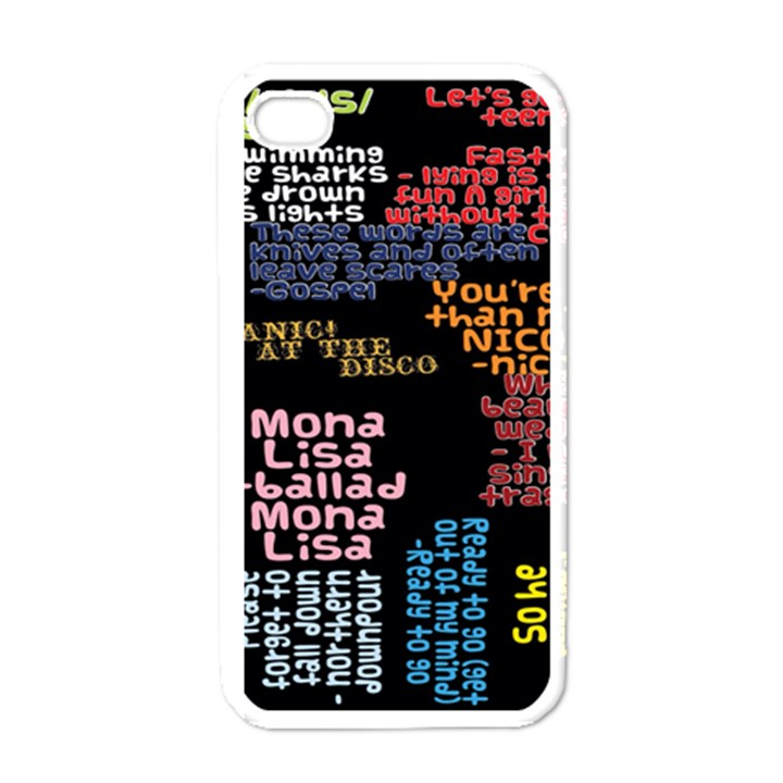 Panic At The Disco Northern Downpour Lyrics Metrolyrics Apple iPhone 4 Case (White)