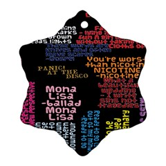 Panic At The Disco Northern Downpour Lyrics Metrolyrics Ornament (snowflake)