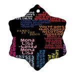 Panic At The Disco Northern Downpour Lyrics Metrolyrics Snowflake Ornament (2-Side) Back