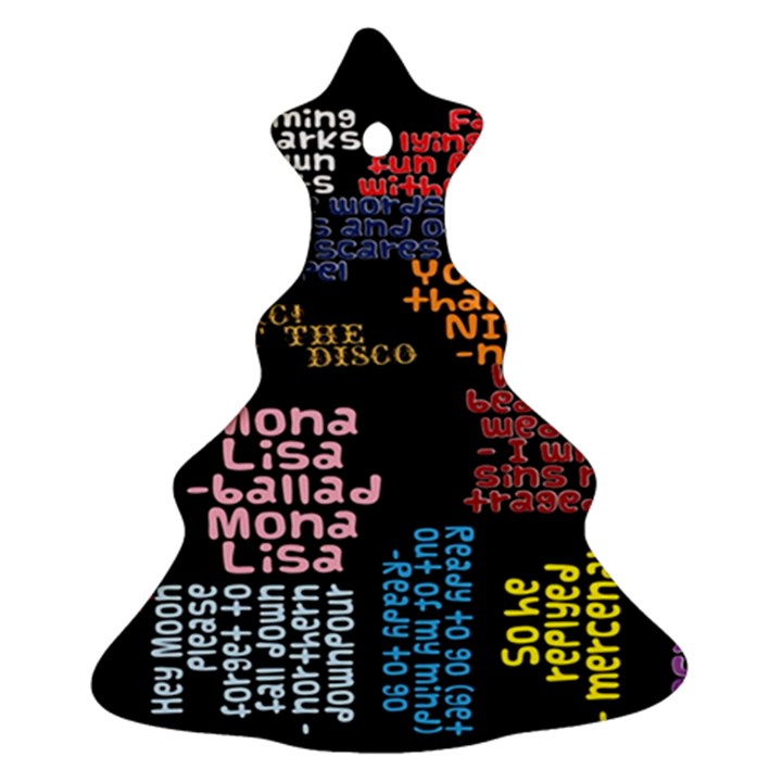 Panic At The Disco Northern Downpour Lyrics Metrolyrics Christmas Tree Ornament (2 Sides)