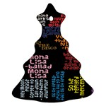 Panic At The Disco Northern Downpour Lyrics Metrolyrics Christmas Tree Ornament (2 Sides) Back