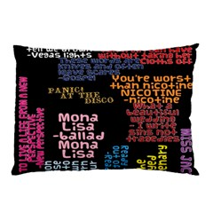 Panic At The Disco Northern Downpour Lyrics Metrolyrics Pillow Case (two Sides)