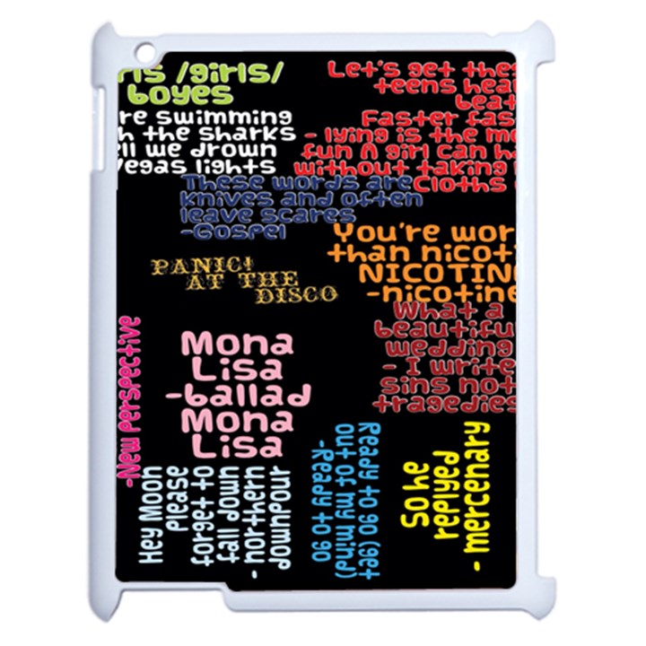 Panic At The Disco Northern Downpour Lyrics Metrolyrics Apple iPad 2 Case (White)