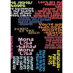 Panic At The Disco Northern Downpour Lyrics Metrolyrics Ribbon 3D Greeting Card (7x5) Inside