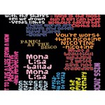 Panic At The Disco Northern Downpour Lyrics Metrolyrics Ribbon 3D Greeting Card (7x5) Back