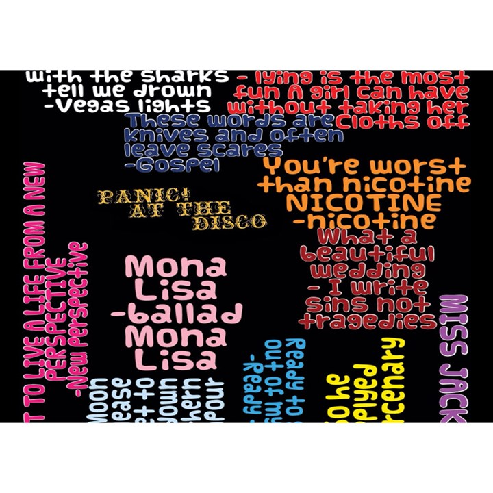 Panic At The Disco Northern Downpour Lyrics Metrolyrics Birthday Cake 3D Greeting Card (7x5)