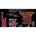 Panic At The Disco Northern Downpour Lyrics Metrolyrics Laugh Live Love 3D Greeting Card (8x4) Back