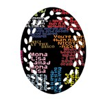 Panic At The Disco Northern Downpour Lyrics Metrolyrics Ornament (Oval Filigree)  Front