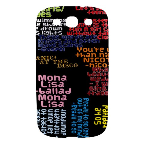 Panic At The Disco Northern Downpour Lyrics Metrolyrics Samsung Galaxy S III Hardshell Case