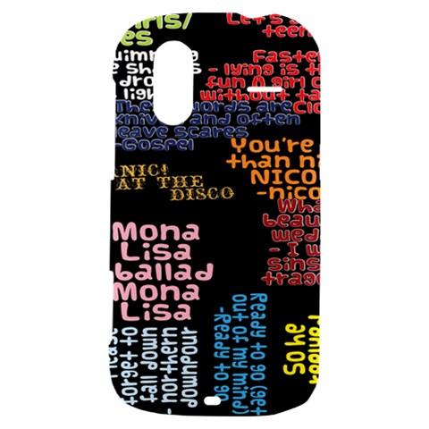 Panic At The Disco Northern Downpour Lyrics Metrolyrics HTC Amaze 4G Hardshell Case