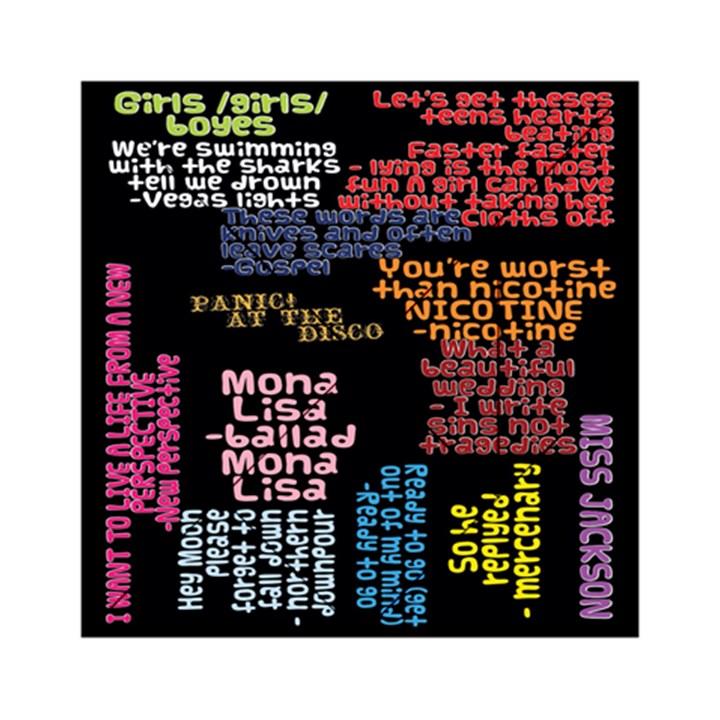 Panic At The Disco Northern Downpour Lyrics Metrolyrics Acrylic Tangram Puzzle (6  x 6 )