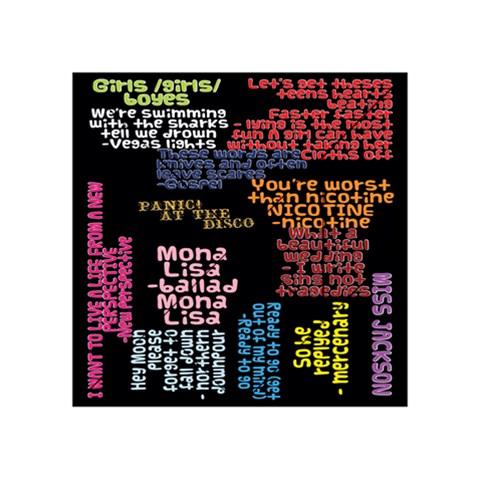 Panic At The Disco Northern Downpour Lyrics Metrolyrics Acrylic Tangram Puzzle (4  x 4 )