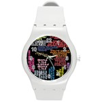 Panic At The Disco Northern Downpour Lyrics Metrolyrics Round Plastic Sport Watch (M) Front