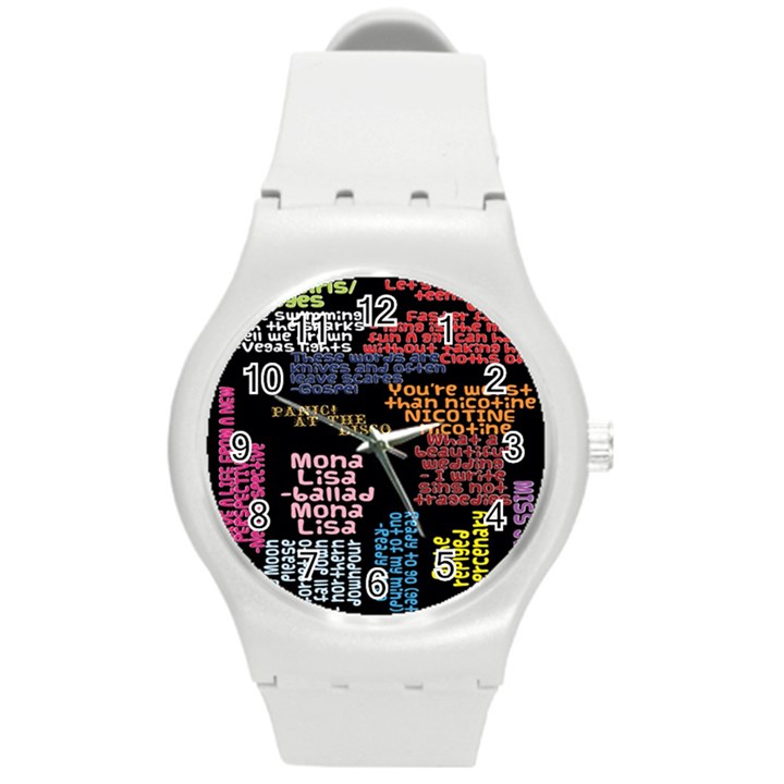 Panic At The Disco Northern Downpour Lyrics Metrolyrics Round Plastic Sport Watch (M)