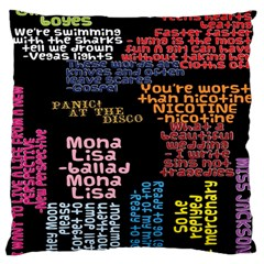 Panic At The Disco Northern Downpour Lyrics Metrolyrics Large Cushion Case (One Side)