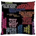Panic At The Disco Northern Downpour Lyrics Metrolyrics Large Cushion Case (One Side) Front
