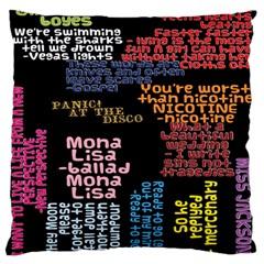 Panic At The Disco Northern Downpour Lyrics Metrolyrics Large Cushion Case (Two Sides)