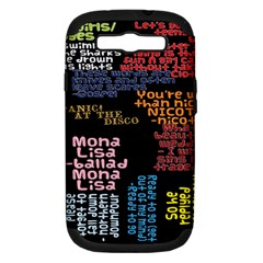 Panic At The Disco Northern Downpour Lyrics Metrolyrics Samsung Galaxy S III Hardshell Case (PC+Silicone)