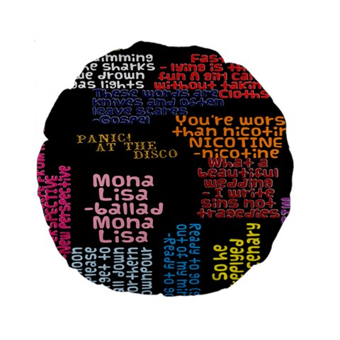 Panic At The Disco Northern Downpour Lyrics Metrolyrics Standard 15  Premium Round Cushions