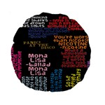 Panic At The Disco Northern Downpour Lyrics Metrolyrics Standard 15  Premium Round Cushions Back