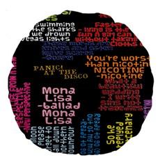 Panic At The Disco Northern Downpour Lyrics Metrolyrics Large 18  Premium Round Cushions