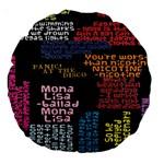 Panic At The Disco Northern Downpour Lyrics Metrolyrics Large 18  Premium Round Cushions Front