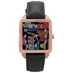 Panic At The Disco Northern Downpour Lyrics Metrolyrics Rose Gold Leather Watch