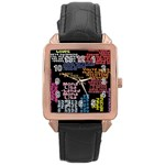 Panic At The Disco Northern Downpour Lyrics Metrolyrics Rose Gold Leather Watch  Front