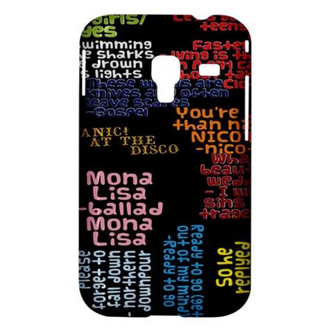 Panic At The Disco Northern Downpour Lyrics Metrolyrics Samsung Galaxy Ace Plus S7500 Hardshell Case