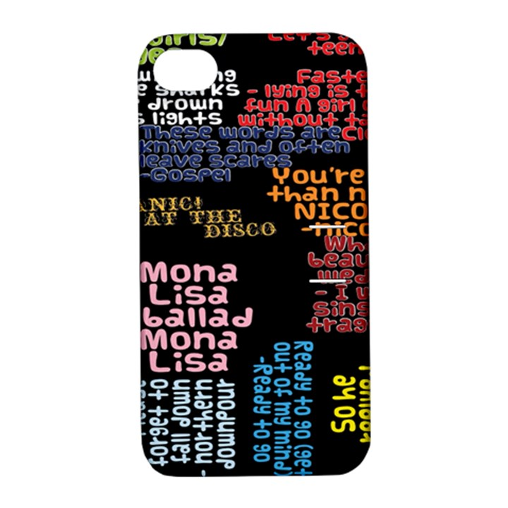 Panic At The Disco Northern Downpour Lyrics Metrolyrics Apple iPhone 4/4S Hardshell Case with Stand