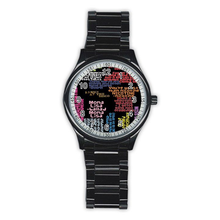 Panic At The Disco Northern Downpour Lyrics Metrolyrics Stainless Steel Round Watch