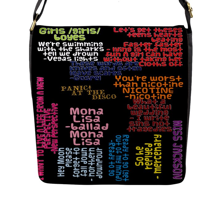 Panic At The Disco Northern Downpour Lyrics Metrolyrics Flap Messenger Bag (L)