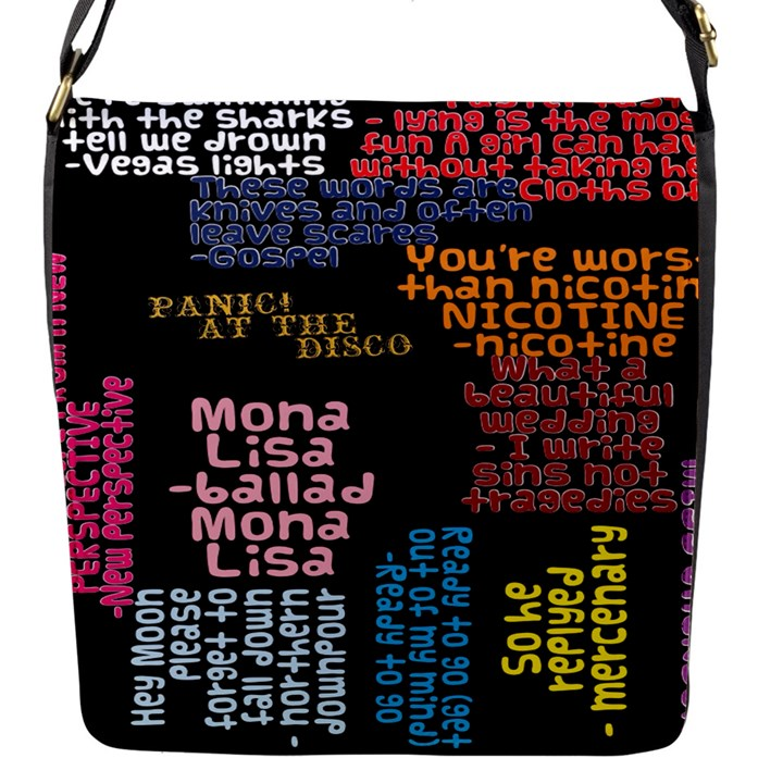 Panic At The Disco Northern Downpour Lyrics Metrolyrics Flap Messenger Bag (S)