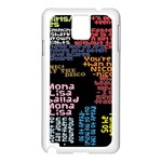 Panic At The Disco Northern Downpour Lyrics Metrolyrics Samsung Galaxy Note 3 N9005 Case (White) Front