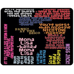 Panic At The Disco Northern Downpour Lyrics Metrolyrics Double Sided Fleece Blanket (Medium)