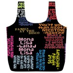 Panic At The Disco Northern Downpour Lyrics Metrolyrics Full Print Recycle Bags (L)  Back