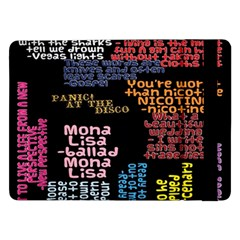 Panic At The Disco Northern Downpour Lyrics Metrolyrics Samsung Galaxy Tab Pro 12.2  Flip Case