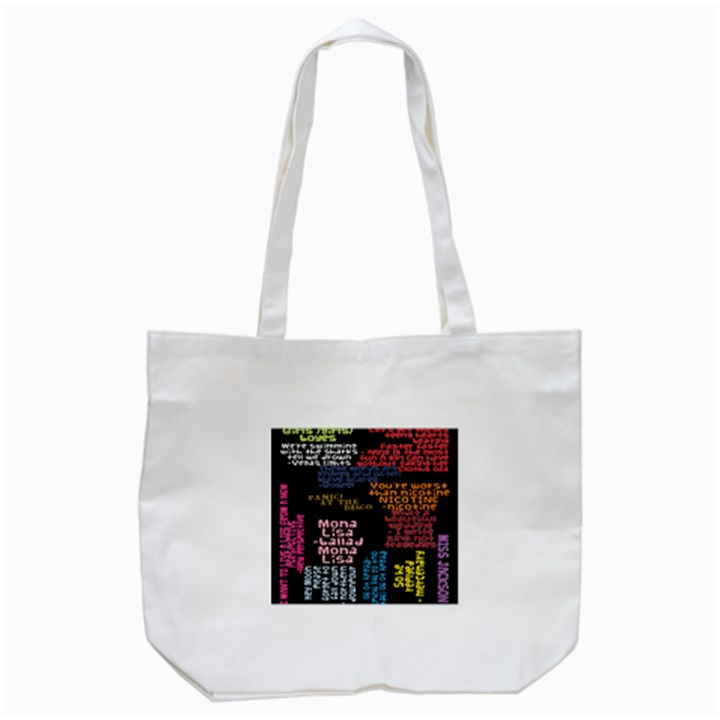 Panic At The Disco Northern Downpour Lyrics Metrolyrics Tote Bag (White)