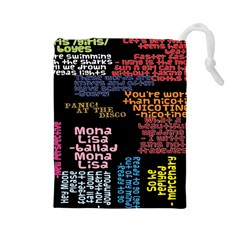 Panic At The Disco Northern Downpour Lyrics Metrolyrics Drawstring Pouches (large)