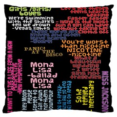 Panic At The Disco Northern Downpour Lyrics Metrolyrics Standard Flano Cushion Case (One Side)