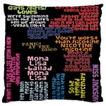 Panic At The Disco Northern Downpour Lyrics Metrolyrics Large Flano Cushion Case (Two Sides) Back