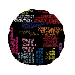 Panic At The Disco Northern Downpour Lyrics Metrolyrics Standard 15  Premium Flano Round Cushions