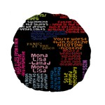 Panic At The Disco Northern Downpour Lyrics Metrolyrics Standard 15  Premium Flano Round Cushions Back